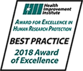 Award of Excellence for Best Practice in Human Research Protection