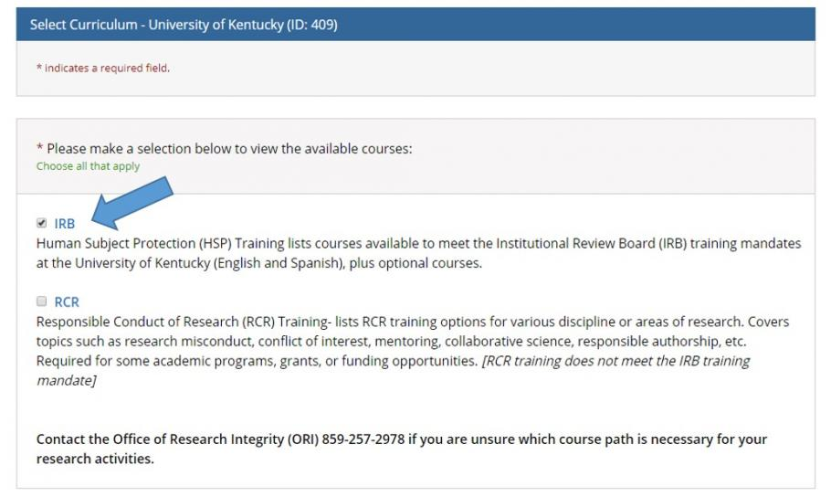 Initial Citi Hsp Training For Irb Approval Faqs University Of