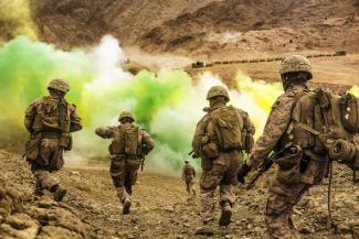 U.S. Marines in training in Jordan