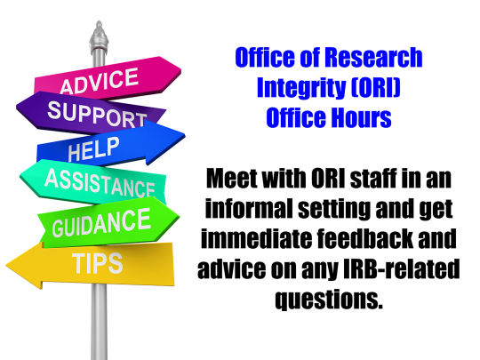 ORI Walk In Office Hours