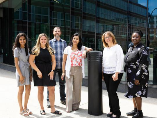 The team includes researchers (left to right) Anu Annabathula, Jacklyn Vollmer, W. Jay Christian, Shyanika Rose, Judy van de Venne and Ariel Arthur. Mark Cornelison | UK Photo