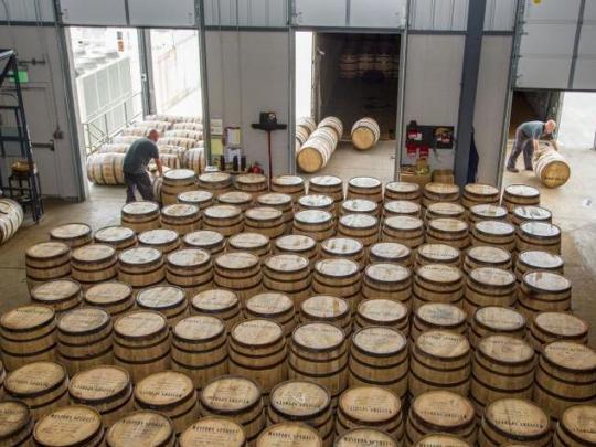 White oak barrels give bourbon its distinct taste. Photo by Matt Barton.